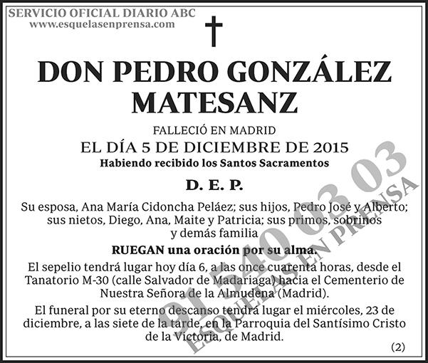 Pedro González Matesanz